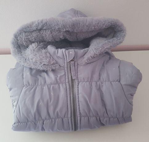Płaszczyk dziewczęcy / kurtka r. 98 plus czapeczki