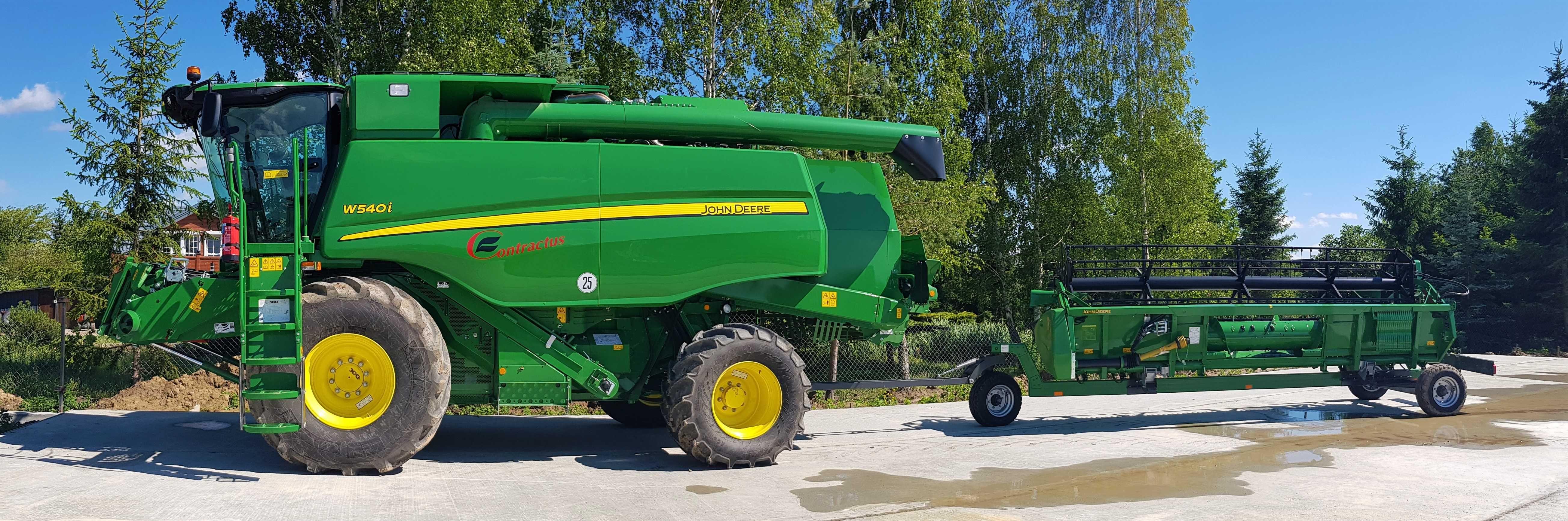 Żniwa koszenie rzepaku zbóż kukurydzy usługi kombajn