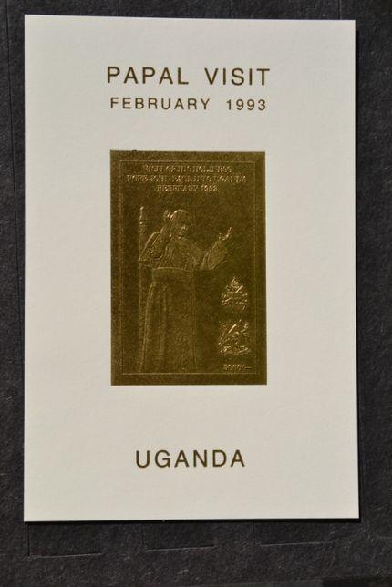 Znaczki. Uganda. Papież Jan Paweł II ** Wydanie ministerialne !!!