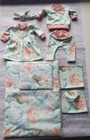Zestaw ubranek dla baby born  + pościel