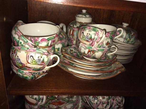 """Serviço de chá Rosa """"Mandarim"""" com 52 peças"""