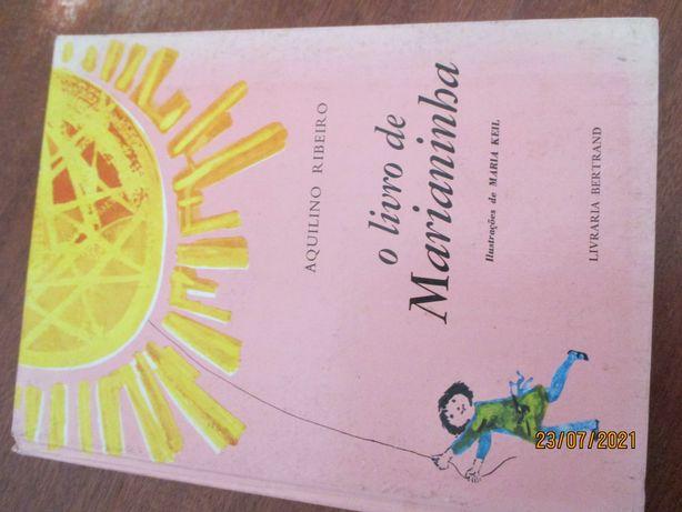 Livro raro - O livro de Marianinha - Aquilino Ribeiro - 1ª edição