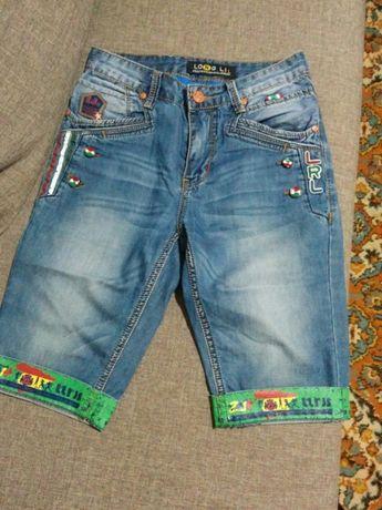 Джинсовые шорты на стройного парня 11-13 лет