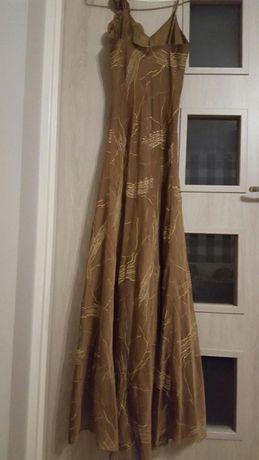 suknia sukienka długa wieczorowa wesele studniówka roz 36