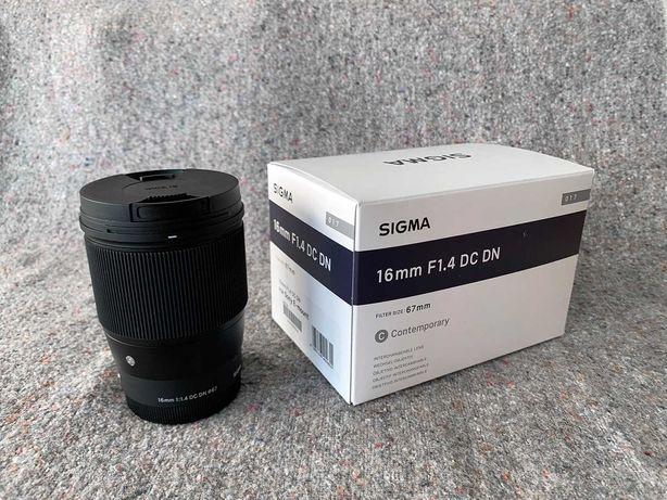 Sigma 16mm 1.4 Sony E mount