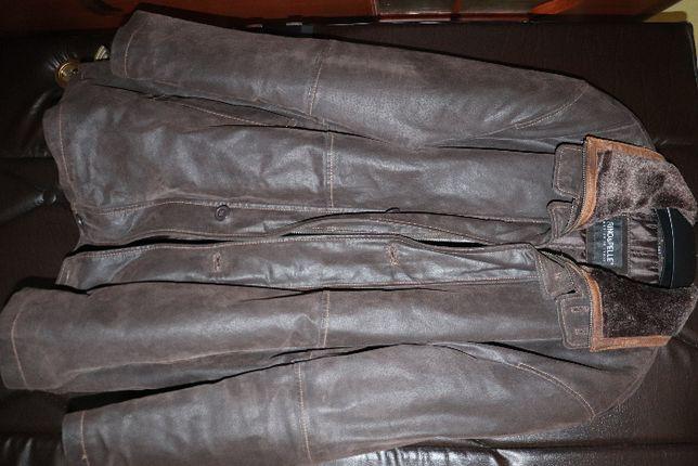 kurtka skórzana kolor brązowy