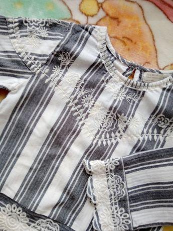 Кофта с вышивкой Zara для девочки