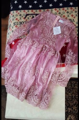 Нове плаття платье вечернее органза вишивка пудра