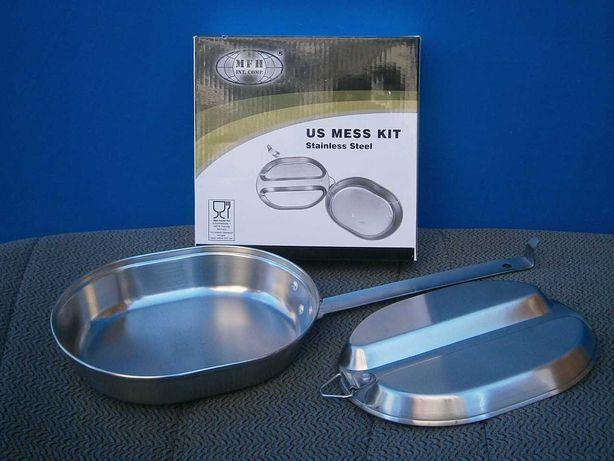 Похідний набір посуду армії США, US Mess Kit, нержавіюча сталь.