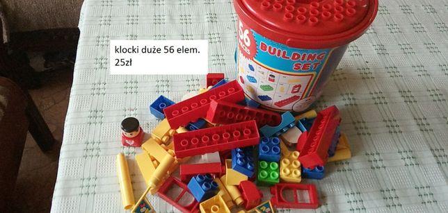 Klocki, duże elementy dla najmłodszych