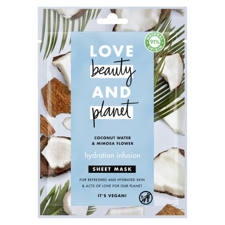 Love Beauty and Planet Maseczka w płachcie kokos i mimoza 21 ml
