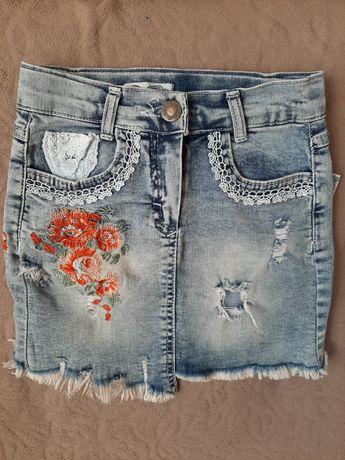Джинсова юбка для дівчинки