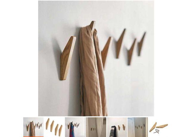 Wieszak drewniany na odzież 4 szt