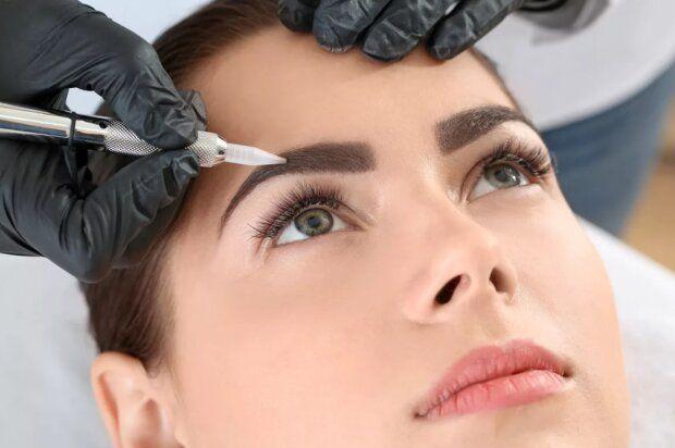 Перманентный макияж киев. Пудровые брови