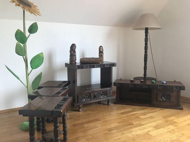 Cepelia - komplet drewnianych mebli