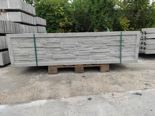 Płyty betonowe 200x50cm, podmurówka betonowa, panele 3d, montaż