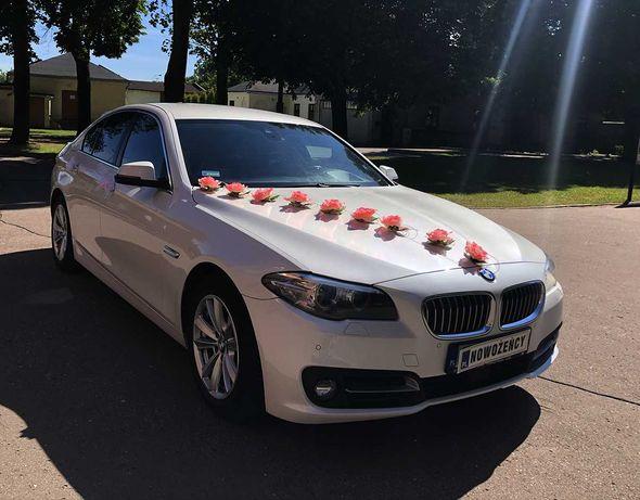 Auto do ślibu BMW 5 (biała perła)