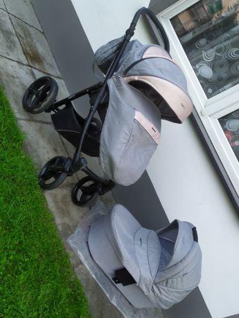 Śliczny wózek bebetto Nico shine 2w1 w stanie idealnym gondola sapcero