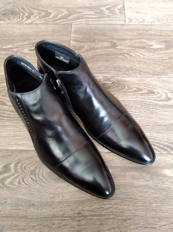 Осенние ботинки grand gudini, кожа, 42, классика, демисезон