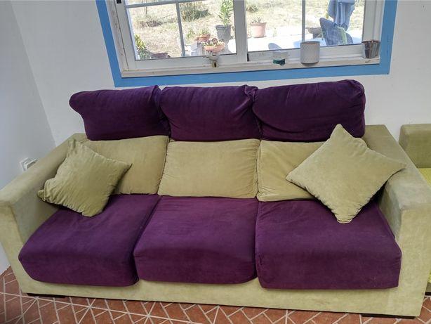 Sofá cama com chaise-longue