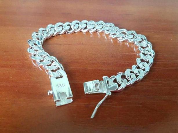 Мужской браслет из стерлингового серебра
