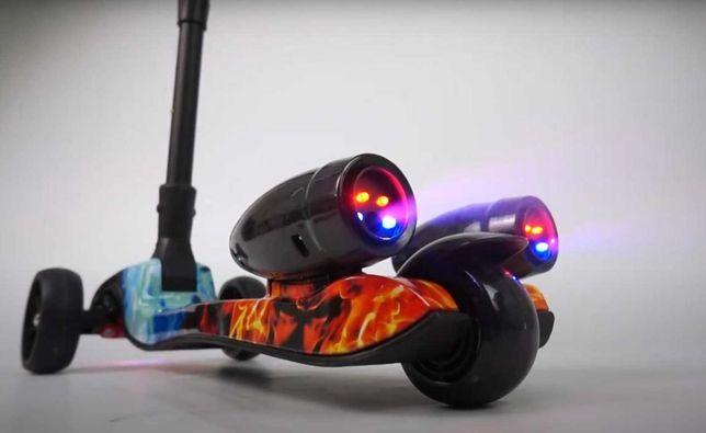 Трехколесный детский самокат Best Scooter Maxi с турбинами