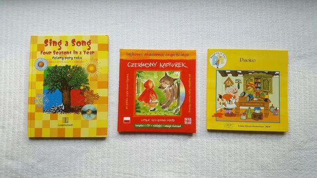 ZESTAW - 3 książki dla dzieci do czytania i śpiewania po angielsku