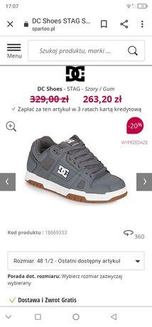 DC stag buty na deskorolkę r 40,5