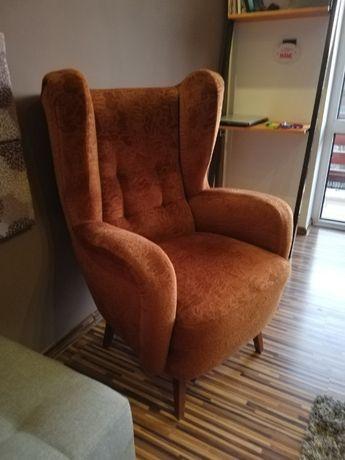 Zabytkowy fotel uszak