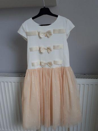 Piękna sukienka Wójcik dla dziewczynki r.134