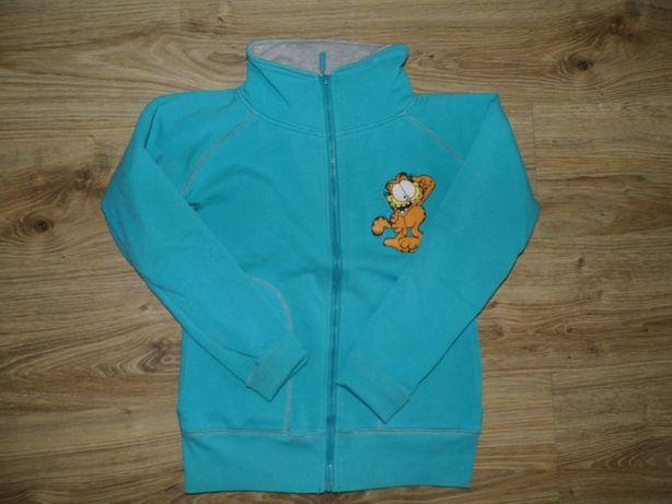 Garfield- super bluza rozpinana turkusowa s