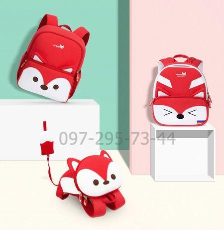Детский 3d рюкзак из неопрена Nohoo Лисенок красный