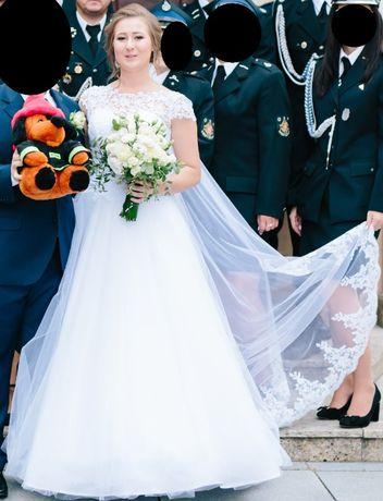 Suknia ślubna 36/38 + koło GRATIS