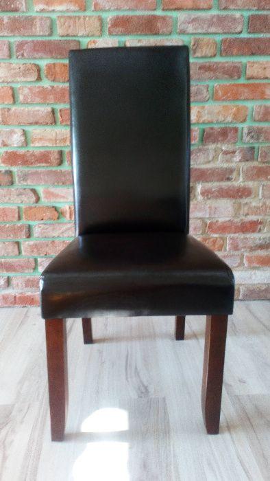 4 krzesła drewno skóra ekologiczna Bekkely Jysk Legnica - image 1