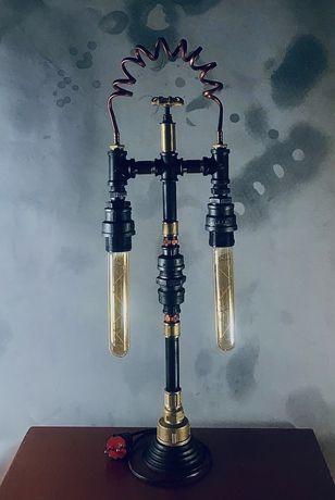 Настольный светильник pipe industrial loft