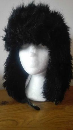 Czapka zimowa męska uszatka czarna