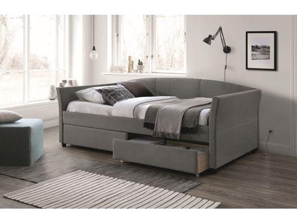 LANTA 90 – łóżko tapicerowane szare - DOWOZIMY BEZPŁATNIE - Raty !!!