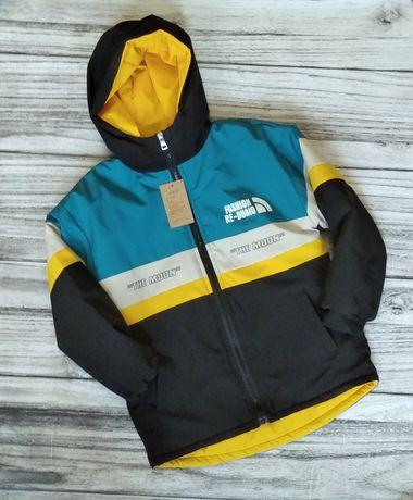 Куртка деми, новая, рост 130, 1400 руб