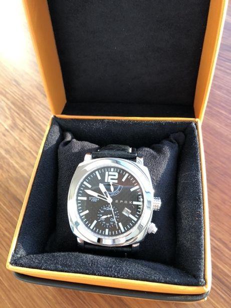 Relógio EPOK automático com Reserva e 24h ou outro fuso GMT