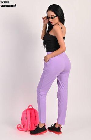 Штани спортивні, жіночі штани, лавандові штани, прогулочные штаны 48,5