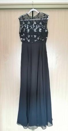 Czarna sukienka maxi Asos z cekinami rozmiar L.