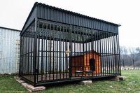 Duży Kojec dla Psa z Budą, Dachem i Podłogą, klatka klatki 2,9x2m
