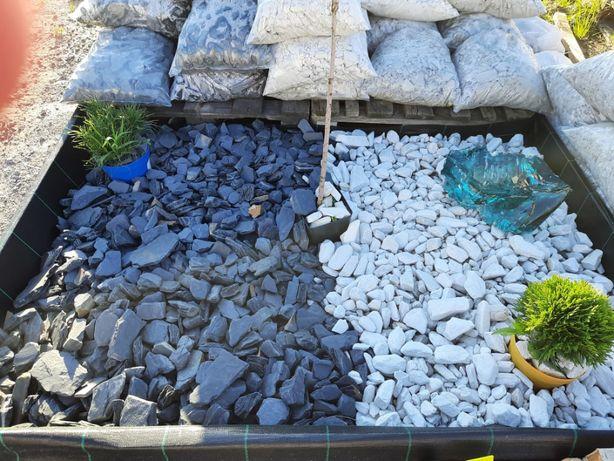 Kamień Ogrodowy Ozdobny Dalmatynczyk Thassos Bazalt Kora Kamienna