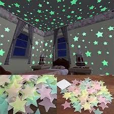 Светящиеся фосфорные наклейки звезды на стену Звездочки на потолок 50ш