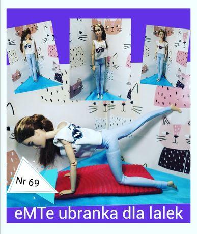 Sportowe ubranka dla lalki Barbie