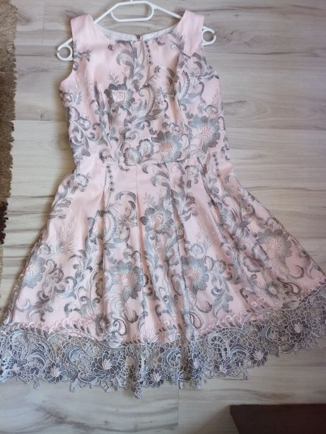 Sukienka rożowo siwa rozmiar L