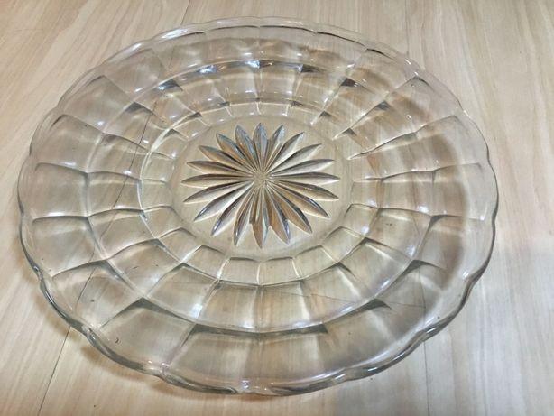 Prato grande antigo em vidro