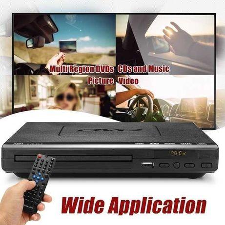 Odtwarzacz DVD 15 W 1080P  możliwośćwielokrotnego odtwarzania Pilot