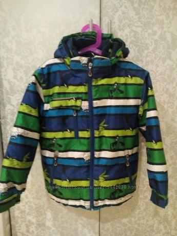 Термо куртка горнолыжная на мальчика 110-122р. Можно осень-зима-весна