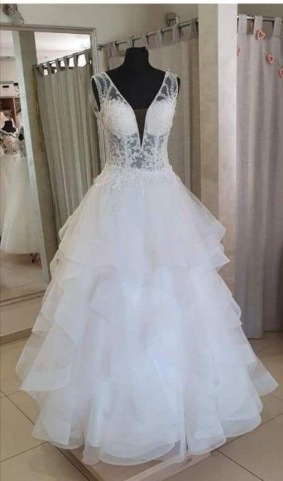 Suknię ślubną SPRZEDAM model vanessa 1911 kolor bialy